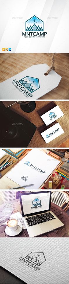 Mountain Camp Logo Design Template Vector #logotype Download it here: http://graphicriver.net/item/mountain-camp/13580322?s_rank=401?ref=nexion
