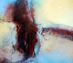 Sharon Blair Art and Design: Crossing The Line    www.sharonblair.com.au     - Art For Inspired Interiors           -  Mixed Media Artwork: Organic Abstract
