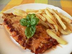 Zapečená rybka Fish And Meat, Meat Recipes, Steak, French Toast, Bacon, Chicken, Cooking, Breakfast, Kitchen
