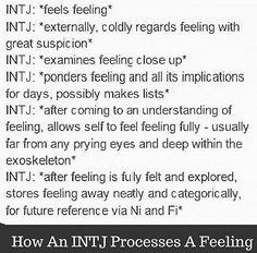 so true. Unfortunately I am on the cusp of INTJ and ENTJ and that changes a little bit there. Intj Personality, Intj Humor, Intj Women, Intj And Infj, That Way, Just In Case, Self, Feelings, Frases