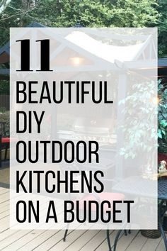 Summer is coming so check out these inspiring backyard patio spaces. These DIY Outdoor projects are perfect if you want to learn how to build an outdoor gazibo or makeover the one you have. Check out this budget friendly cinder block project as well. Kitchen Cabinets Materials, Outdoor Kitchen Cabinets, Patio Kitchen, Outdoor Kitchen Design, Kitchen On A Budget, Diy Kitchen, Kitchen Bars, Modular Outdoor Kitchens, Outdoor Spaces
