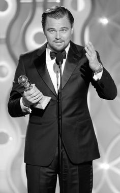 Leo at the golden Globes yesterday. I cant believe he actually won! Well done Leo you have done me proud!!