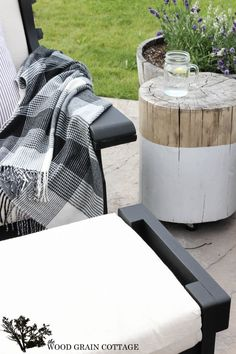 Outdoor Patio Furniture Makeover. By The Wood Grain Cottage