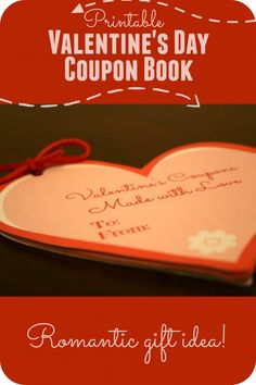 Are you looking for a romantic and thoughtful gift idea for Valentine's Day?  Here is a cute DIY Valentine's Day coupon , print it out and have a memorable homemade gift for free!