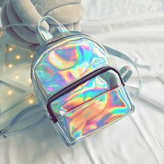 hologram backpack, Palegrunge, grunge, tumblrclothes, tumblrstyle, tumblroutfit, kawaiistuff, kawaii, aesthetic, aesthetics aestheticclothes, softgrunge, softgoth, tumblrstore, grungestyle, outfitgoals, outfitidea, boogzel, boogzelapparel, kokopie boots ,unusual bag, backpack tumblr, kanken backpack Cute Mini Backpacks, Stylish Backpacks, Girl Backpacks, Holographic Bag, Holographic Fashion, Hologram, Grunge Style, Soft Grunge, My Bags