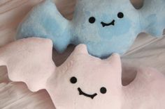 bat plushies| $20  pastel kawaii pastel goth creepy cute creepy kei fachin plush pillow home decor under20 under30 etsy