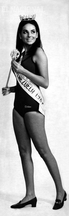 """Mariela Pérez Branger, Miss Venezuela 1967, fue inscrita en el concurso una semana antes de la gran noche. Miss Lara protestó junto a otras candidatas, en lo que algunos llamaron """"La rebelión de las feas"""".  15-07-1967 (Colección Archivo El Nacional)"""