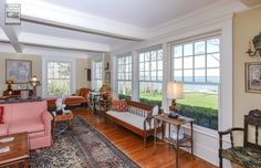Magnificent view through these new, large, amazing windows we installed  Home improvement / home remodeling / renovation / new double hung windows from Renewal by Andersen Long Island
