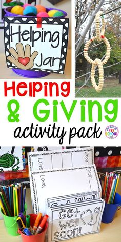 Helping and Giving is packed with activities to teach students the importance of helping and giving. Just what I need for my preschool and pre-k students for my Christmas theme.