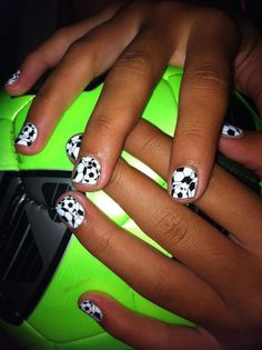 Who says you can't have sports and cool nails at the same time? www.primalfitnesscenters.com #primalfitnesscenters #irvine #gym #workout #fitness #exercise #sports #soccer #nails #manicure