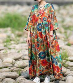 Linen Maxi dress, plus size dress, long Flare Dress, boho maxi dress, Prom dresses