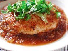 鶏ミンチと豆腐のみぞれあんかけハンバーグの画像