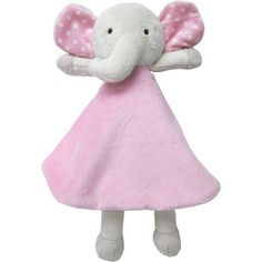 Sumersault Security Blanket, Pink Elephant