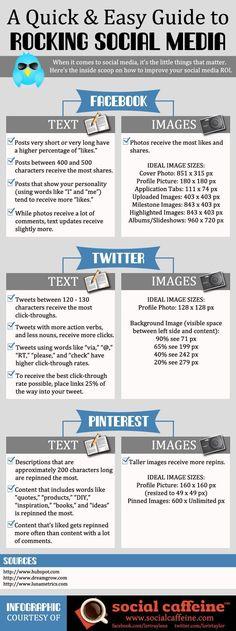 Consejos para mejorar tu presencia en Twitter Facebook y Pinterest. #infiografía