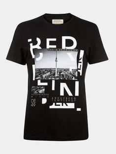 Black Berlin Print T-Shirt - Mens T-Shirts & Vests - Clothing - Burton