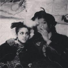 Jean-Michel Basquiat with Madonna #basquiat #madonna #artandmusic