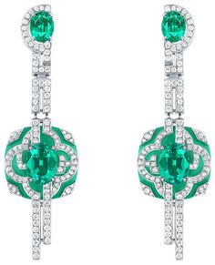 Jardin earrings by Louis Vuitton from the Escale á Paris high jewellery collection.