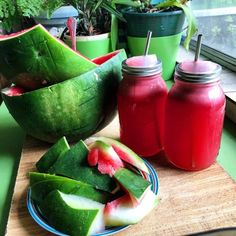 movingisbetter:vanessaprosser:  Eat half, juice the rest Watermelon baby   Fitness and health blog!   ❀☼☾ come say hi!❀☼☾