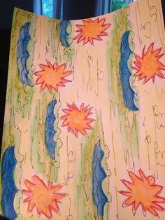 sun water and land design as per Tito! Lycra aquarelles