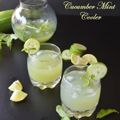 How to Cucumber Mint Cooler
