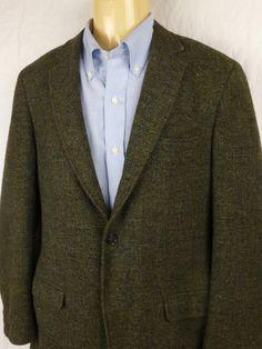 midcentury HARRIS TWEED 3/2 tweed wool by saltysalutevintage, $89.00