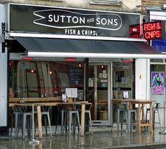 sutton and sons fish and chips, exterior