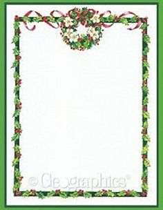 Christmas Boarders on Pinterest | Christmas Menus, Borders And Frames ...