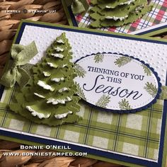 Bonnie O'Neill: Stampin' Up! Winter Woods Bundle, Under the Mistletoe Designer Paper, Softly Falling Textured Impressions Embossing Folder, and embossing paste Christmas Cards 2018, Stamped Christmas Cards, Homemade Christmas Cards, Stampin Up Christmas, Noel Christmas, Xmas Cards, Handmade Christmas, Holiday Cards, Christmas Crafts