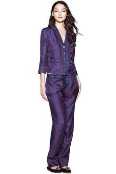 """-repinned """"Tory Burch Cassandra PJ set #pajamas #pjs"""