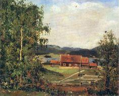 "Edvard Munch (1863-1944) ""The landscape. Maridalen near Oslo"". 1881 - Imgur"