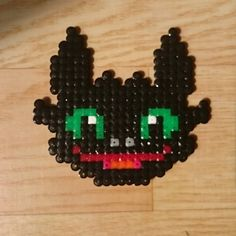 Toothless - HTTYD hama beads by Jenny Specht