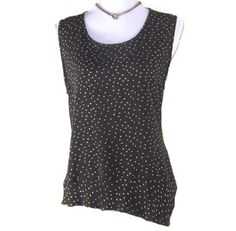 CHARCOAL SLEEVELESS BLOUSE Spotted sleeveless by EuropeanRetro