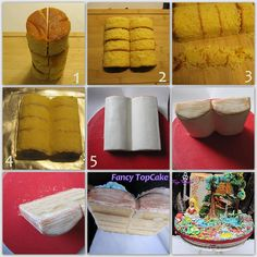 How to make an open book cake using your round cakes.By Fancy Topcake. Full details and descriptions posted on FB page.
