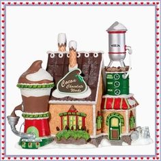 Department 56 North Pole Village Cocoa Chocolate Works