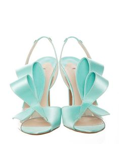 I do I love thee....let me count thew ways! Nicholas Kirkwood Bow Shoes in Light Blue
