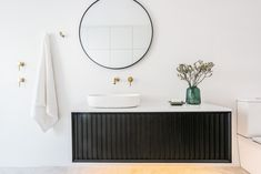 Just In Place specialises in bathroom, laundry and kitchen renovations. In-house construction company. Laundry Bathroom Combo, Downstairs Bathroom, Bathroom Inspo, Master Bathroom, Dream Home Design, House Design, Timber Vanity, Laundry Design, Laundry Room Inspiration