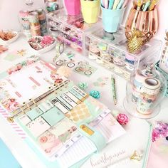 Having your own craft room can be satisfying if you know how to organize all of the craft stuff. Here in this article, we will let you see some of the organization hack to transform your craft room. Planner Organization, School Organization, Stationary Organization, Organisation Ideas, Wine Gift Baskets, Cute School Supplies, Office Supplies, Planner Supplies, Planner Ideas