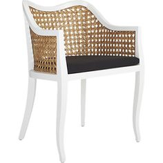 I'll take two for the head of my dining table! tayabas cane side chair with black cushion  | CB2