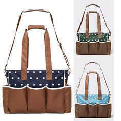 Polka Dot Diaper Nappy Insulated Mummy  Milk Bottle Strollers Baby Shoulder Bags #generic #Clutch