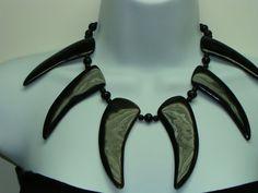 Black Tribal Choker by VintageConnoisseur on Etsy, $38.00