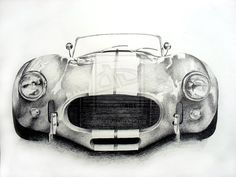 65' Shelby Cobra Front View  Print by RStephensArt on Etsy, $10.00