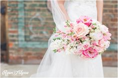 Ah-mazing pink wedding bouquet! Photo credit: Ryan and Alyssa.