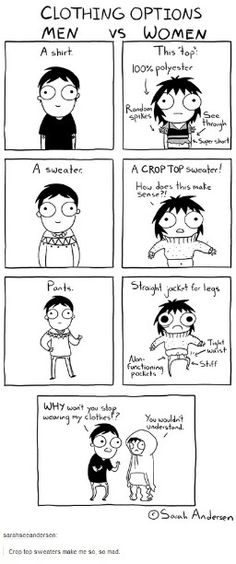 This is SO true! I can't find a shirt without it being too short/tight and/or practically invisible!