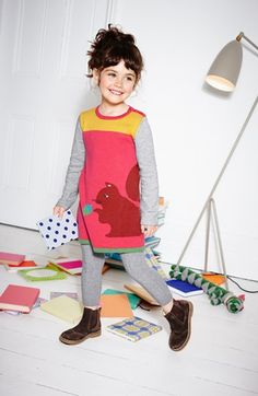 Mini Boden Dress & Tights (Little Girls & Big Girls)  available at #Nordstrom