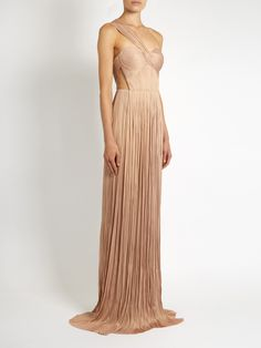 Silk-tulle pleated gown | Maria Lucia Hohan | MATCHESFASHION.COM US