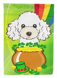 Poodle St. Patrick's Day 2-Sided Garden Flag