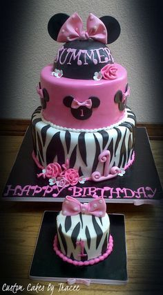 Minnie 1st birthday Cake and smash cake