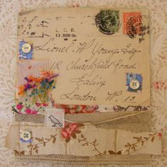 Handmade Original Mixed Media Envelope Artwork
