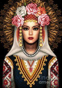 Girl In Bulgarian National Costume by Stoyanka Ivanova