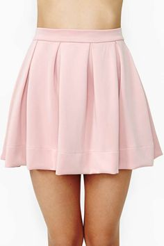 Scuba Skater Skirt - Blush on Wanelo